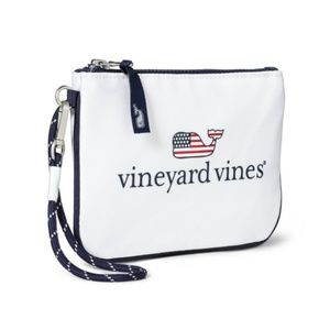 Vineyard Vines Target Flag Whale Pouch Wristlet